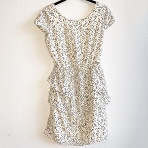Anthropologie Dotted Tiered Open Back Mini Dress